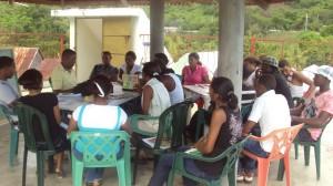 Integrantes del curso taller en el primer día de trabajo