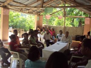 Participantes de la reunion de la zona en la en la Escuela laboral Mandre Rafaela