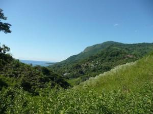 """Vista panorámica de La Ciénaga desde una e las rutas ecológicas que conducen """"Al Cacao"""""""