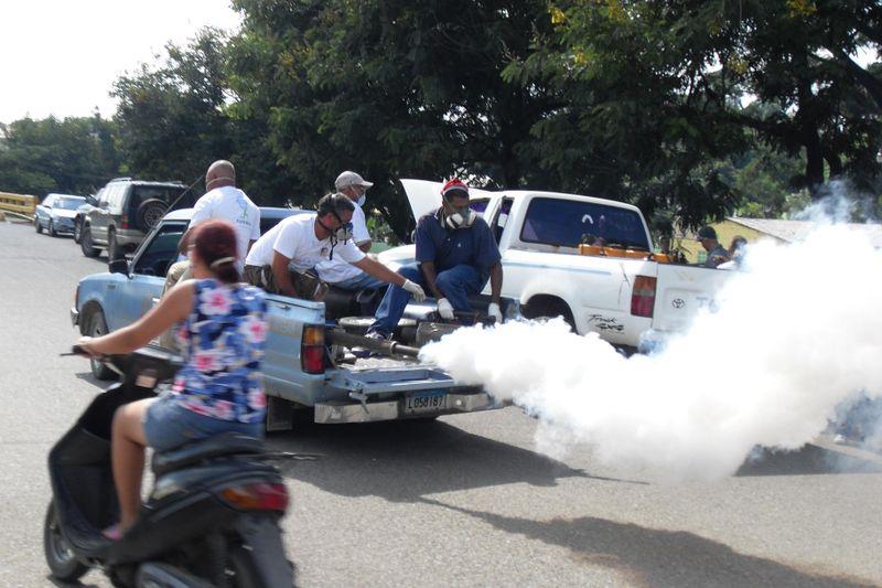 fumigación en las calles